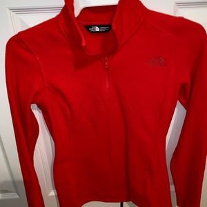 Red fleece north face xs